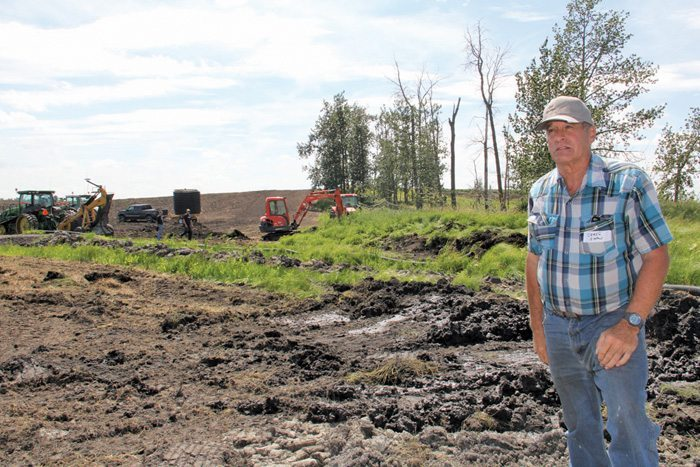 Work on tile drainage installation has been underway on Craig Shaw's Lacombe-area farm since last year.