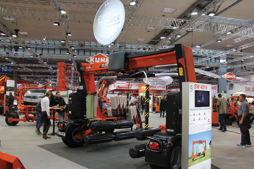 The SW 4014 won a Silver Innovation award at Agritechnica in Germany in November.