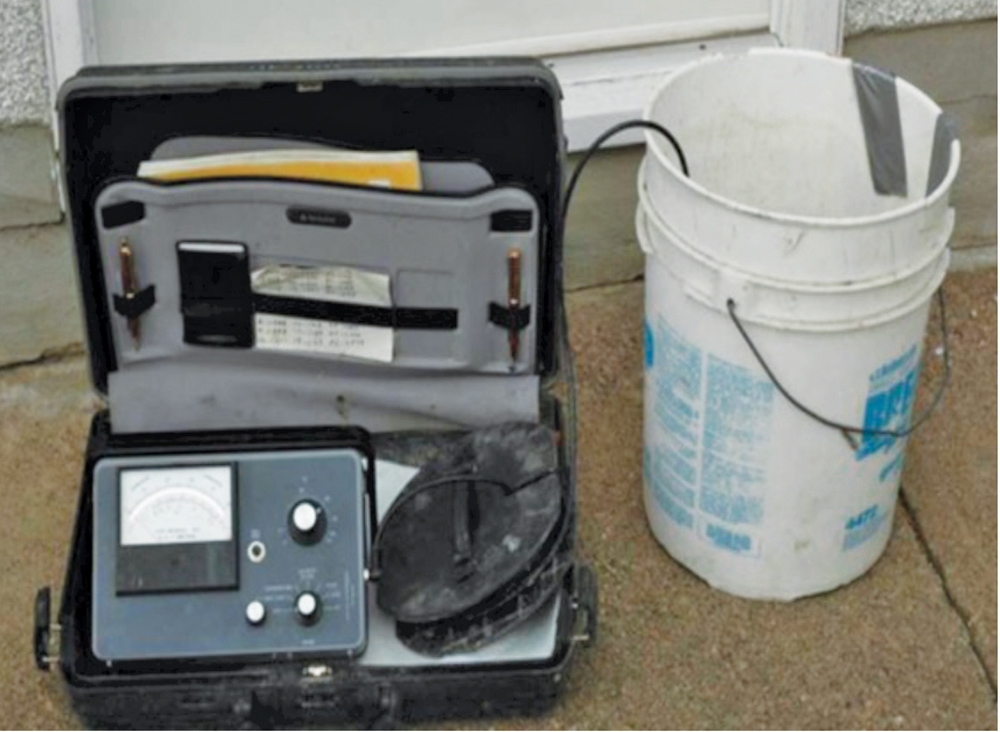 This briefcase has the EC meter, notebook for recording results and the kit to also measure hardness. I keep myself honest by checking Saskatoon tap water at home regularly.