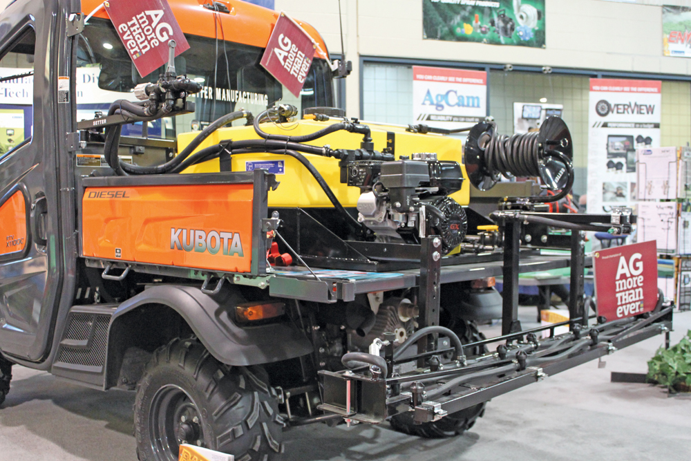 Setter Manufacturing of Russell, Manitoba, offers a line of sprayer systems designed to work on a typical UTV.