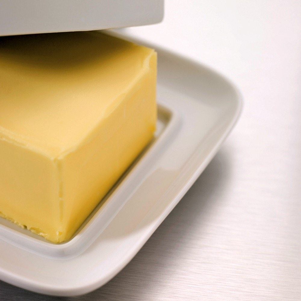 Butter in dish