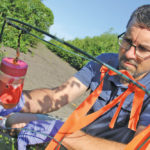 Anthony Mintenko, Manitoba Agriculture's fruit crops industry development specialist, began putting out detection traps to keep a lookout for spotted wing drosophila last week.