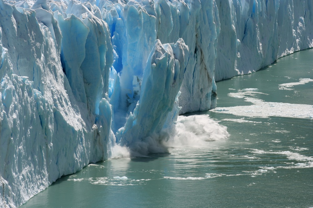 Melting Glaciers are a clear sign of climate change and global warming.