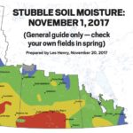 Stubble soil moisture map, November 1, 2017