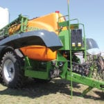 Amazone pushes the pull type sprayer