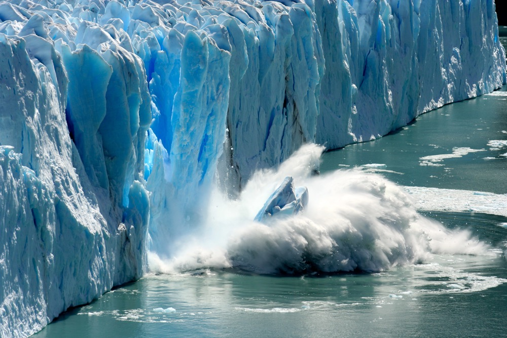 Melting glaciers are a clear sign of climate change and global warming