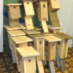 Building birdhouses — a good indoor winter activity