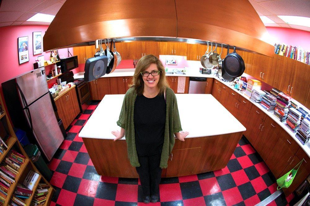 Jennifer Bain standing in her kitchen